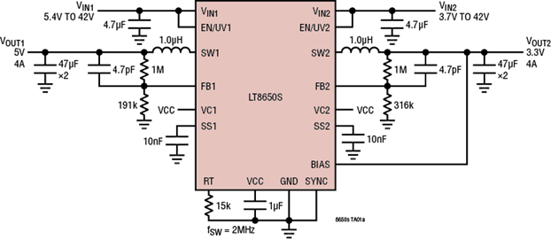 LT8650s Circuit