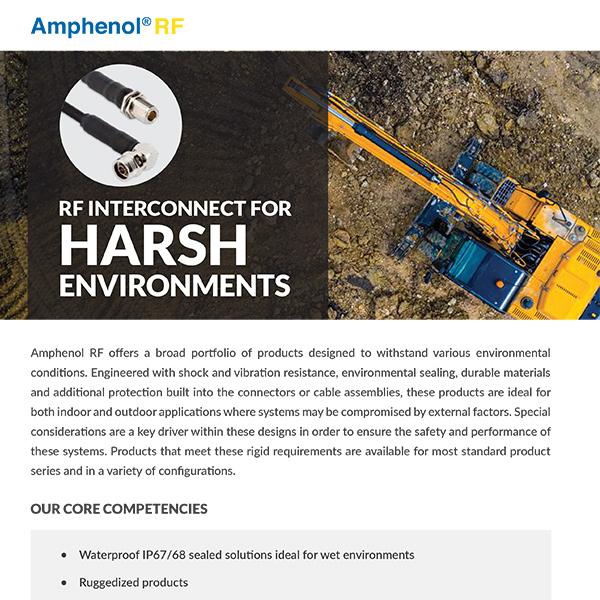 RF Interconnectors for Harsh Environments